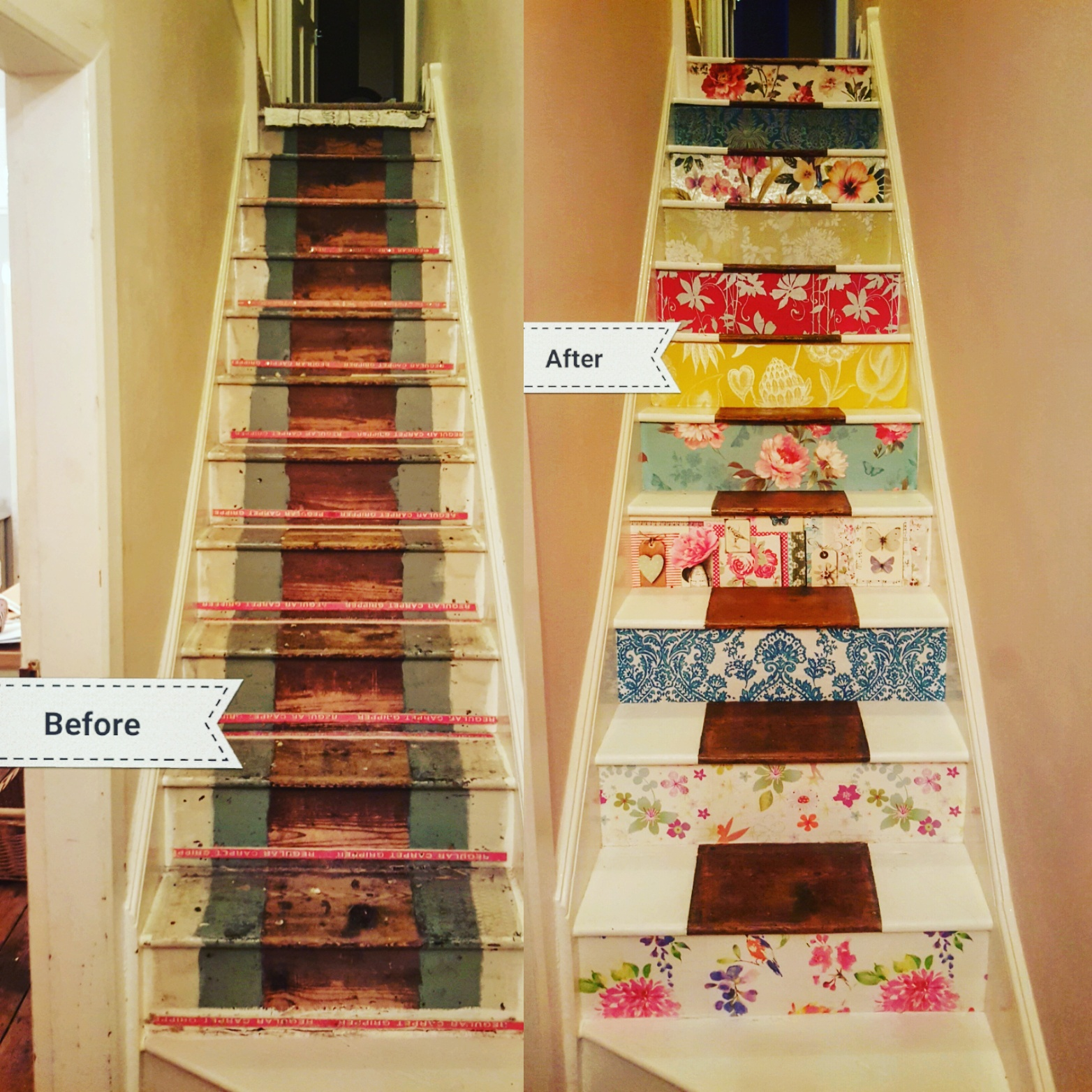 How to transform your staircase with….wallpaper